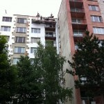 Oprava okapového chodníka bytového domu